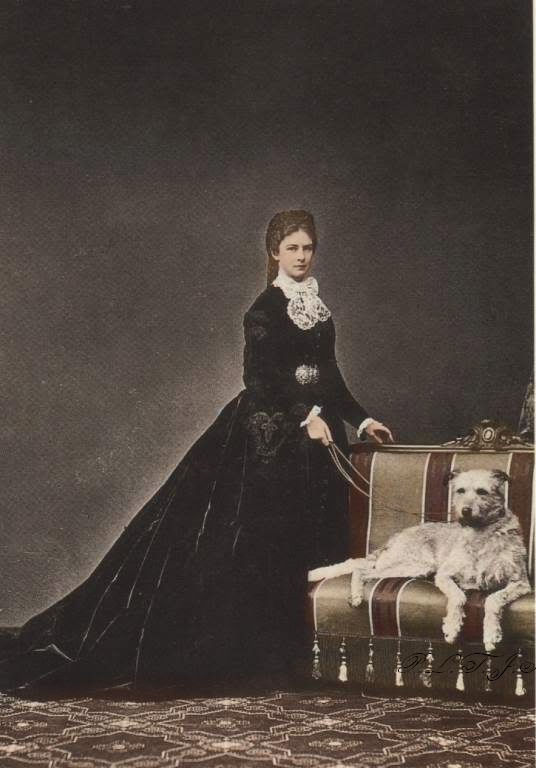 empress_elisabeth_with_one_of_her_dogs_by_otmaafan91-d5774sf